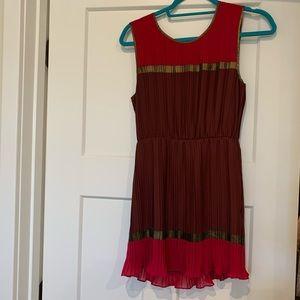 Bcbg pleated mini dress